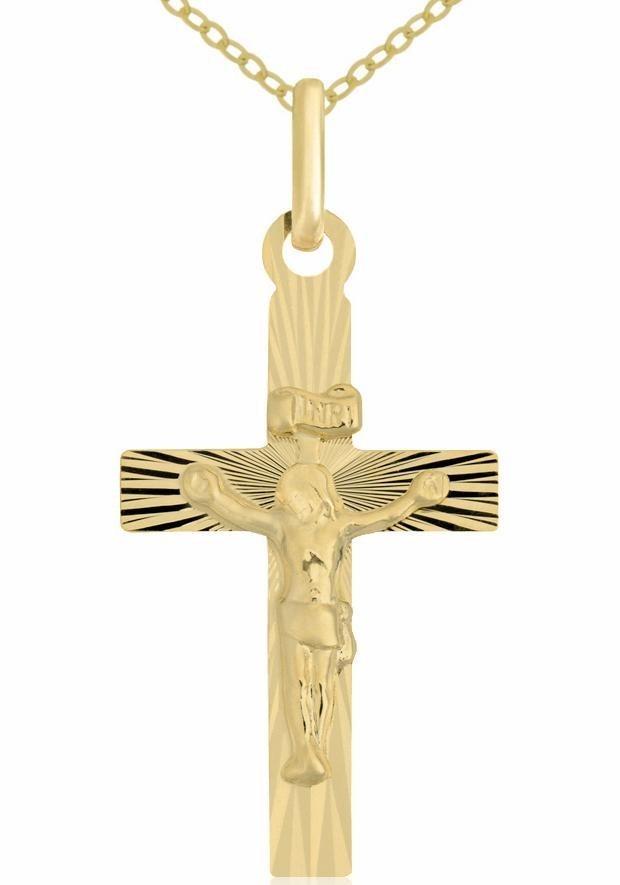 Firetti Kreuzkette »Kreuz« | Schmuck > Halsketten > Kreuzketten | Goldfarben | Firetti