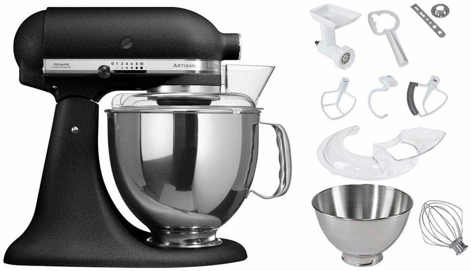 KitchenAid® Küchenmaschine 5KSM175PSEBK Artisan, inkl Sonderzubehör im Wert von ca. 214,-€