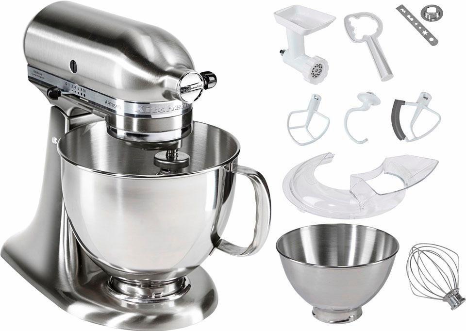 KitchenAid® Küchenmaschine 5KSM175SENK Artisan, inkl Sonderzubehör im Wert von ca. 214,-€ in gebürstetes Metall