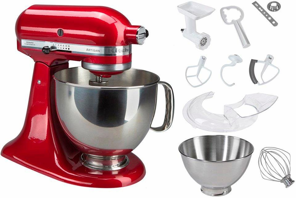 kitchenaid k chenmaschine 5ksm175pseca artisan inkl sonderzubeh r wert ca 214 online. Black Bedroom Furniture Sets. Home Design Ideas