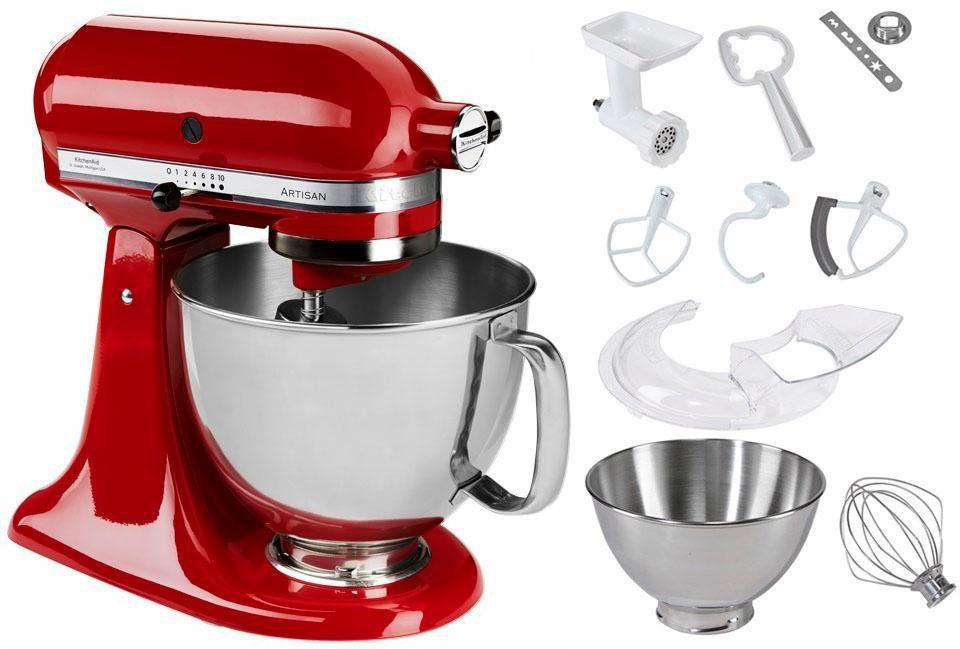 KitchenAid® Küchenmaschine 5KSM125PSEER Artisan + Zubehör im Wert von 214,-€