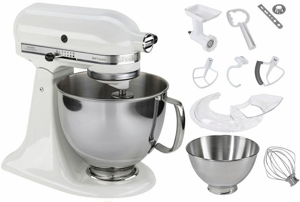 KitchenAid® Küchenmaschine KSM175PSEWH Artisan, inkl Sonderzubehör im Wert von ca. 214,-€, weiss in weiß