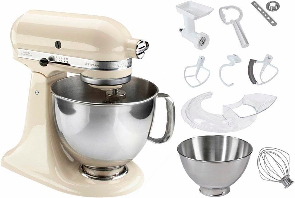 KitchenAid® Küchenmaschine 5KSM125SEAC Artisan + Zubehör im Wert von 214,-€ in creme