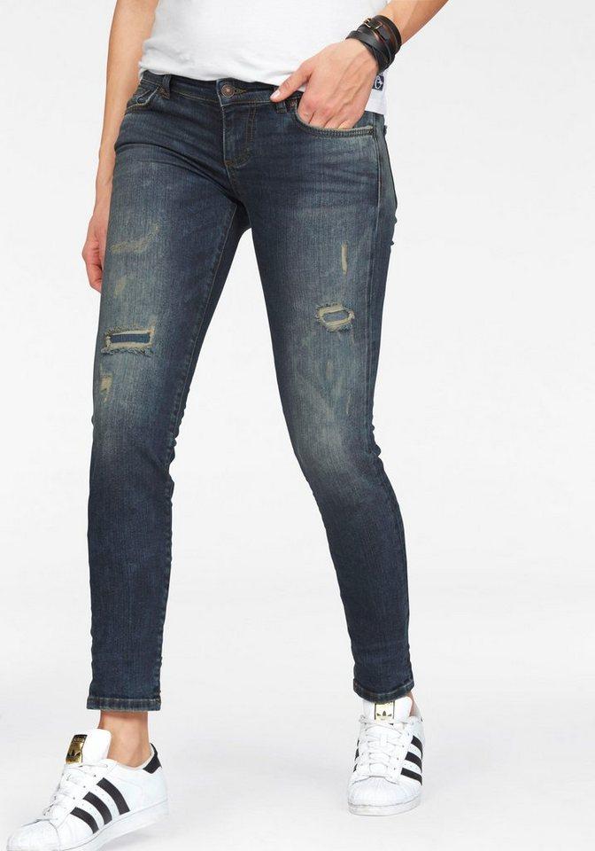 LTB Slim-fit-Jeans »Mina« mit Destroyed-Effekten in cometa-wash