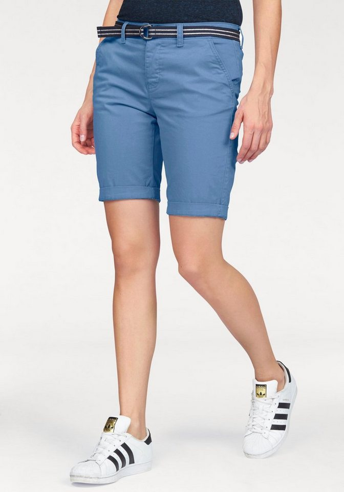 Superdry Shorts »INTERNATIONAL HOLIDAY CITY SHORT« mit Gürtel in blau