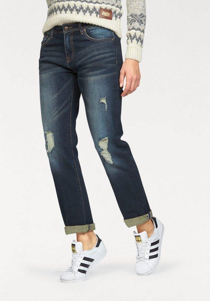 Superdry Boyfriend-Jeans »Harper Boyfriend Jeans« im Boyfreind Style in dark-blue