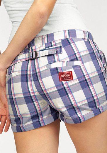 Superdry Hotpants WASHBASKET BOYSHORT, im trendigem Karodessin