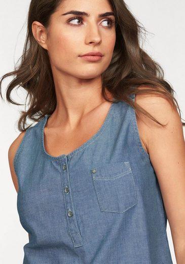 Cross Jeans® Blusentop, in Denimoptik