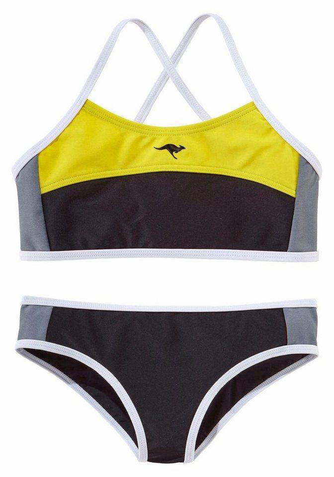 Bustier-Bikini, Kangaroos in schwarz-gelb