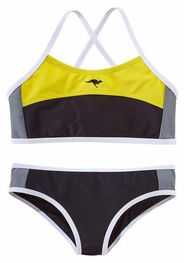 KangaROOS Bustier-Bikini im sportlichen Look