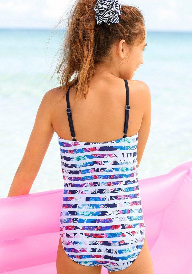 Badeanzug, sunseeker in weiß-marine