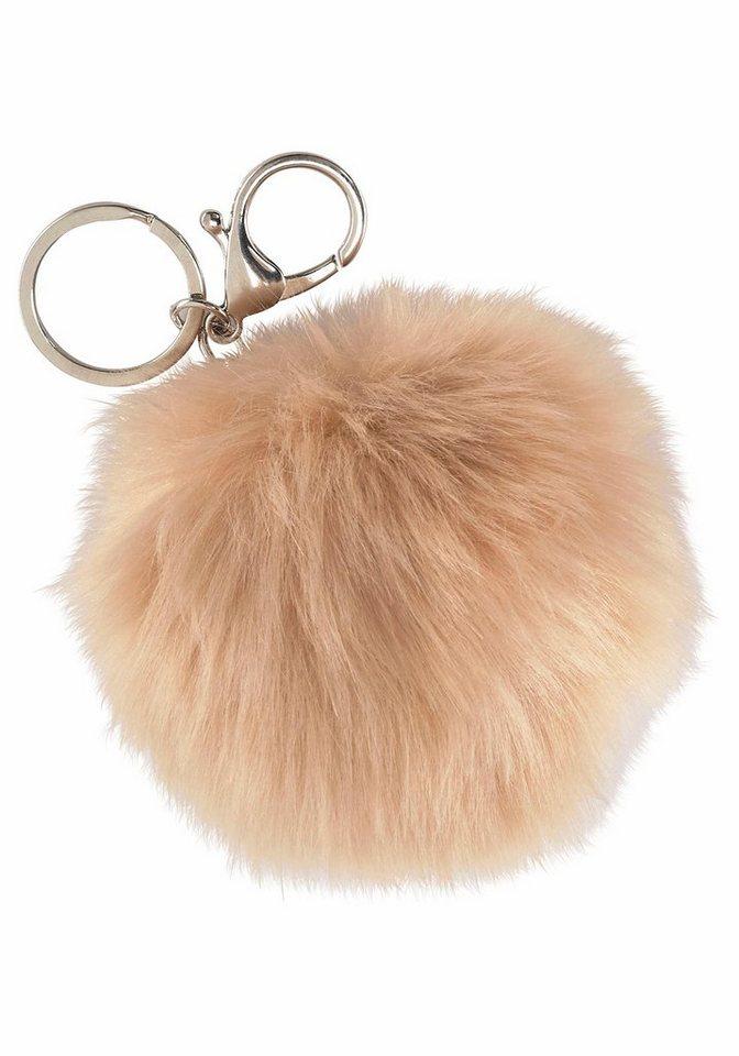 J. Jayz Schlüsselanhänger Fake Fur in natur