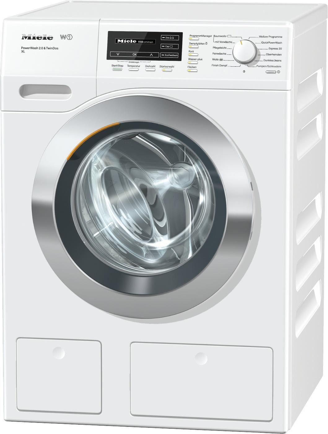 MIELE Waschmaschine WKH272WPS D LW PWash 2.0 & TDos XL, A+++, 9 kg, 1600 U/Min