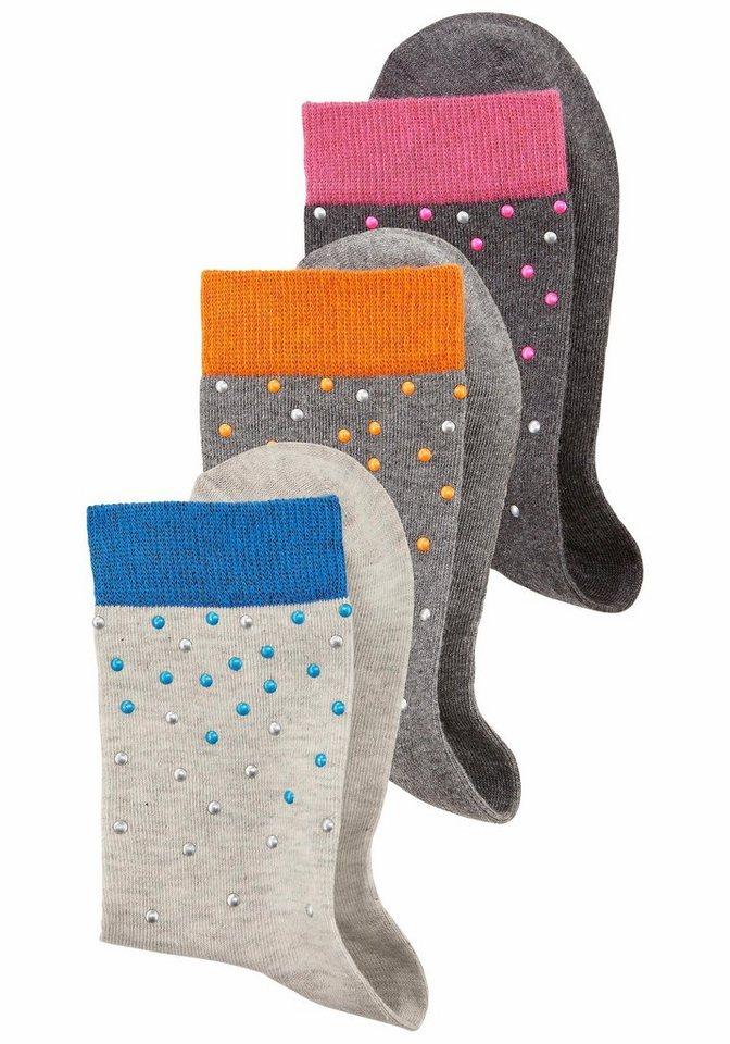 H.I.S Socken (3 Stück) in 3x grau meliert