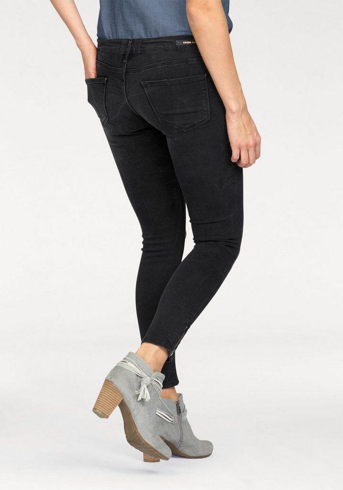 Cross Jeans® Skinny-fit-Jeans »Giselle« in 7/8 Länge in black-used