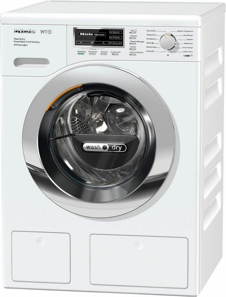 MIELE Waschtrockner WTH720WPM PWash2.0&TDos WiFi D, A, 7 kg / 4 kg, 1600 U/Min in weiß