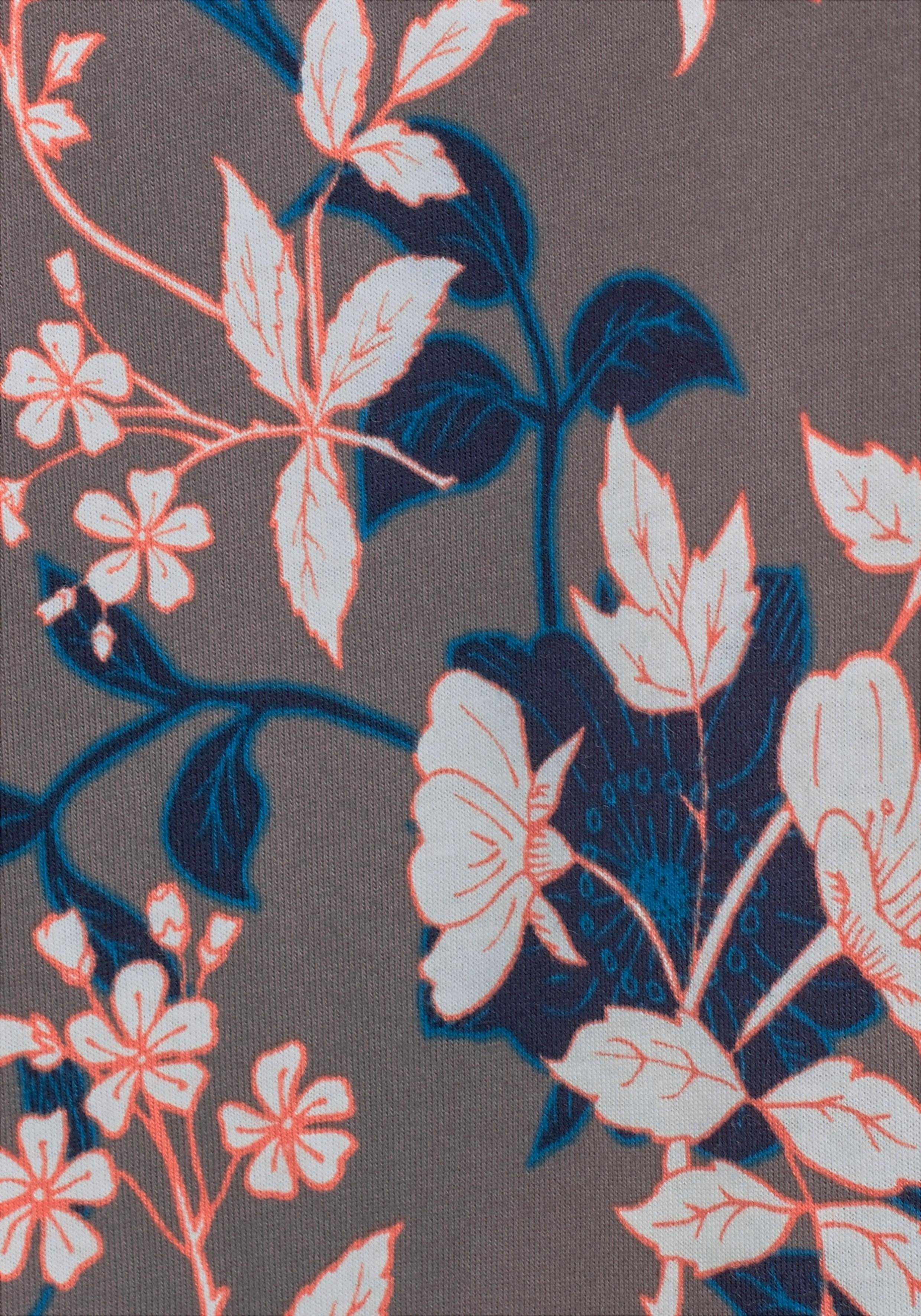 S oliver Blumenprint Red Label Kimono Mit Bodywear 6UqBg