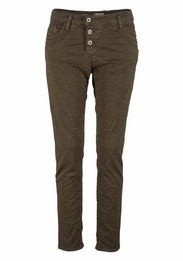 Please Jeans Boyfriend-Hose P78, mit herzförmigem Markenlogo