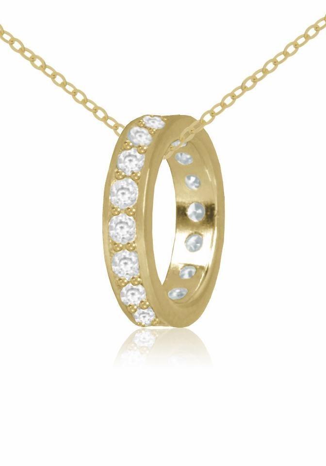 Firetti Goldkette mit Zirkonia in Gelbgold 333