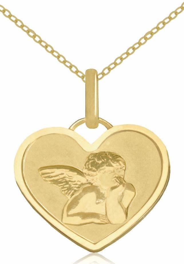 Firetti Herzkette »Herz mit Schutzengel«