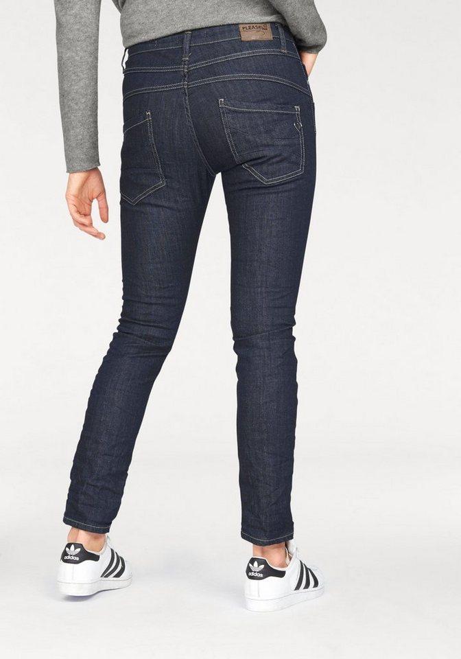 Please Jeans Boyfriend-Jeans »P78« mit Herz-Logo aus Metal in dark-blue