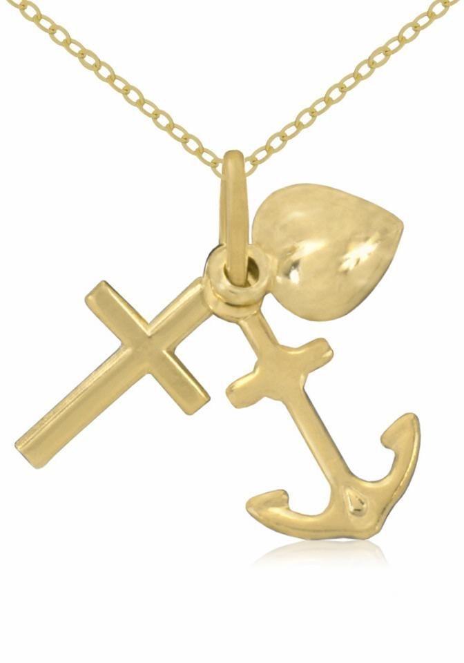 Firetti Goldkette »Glaube, Liebe, Hoffnung« in Gelbgold 333