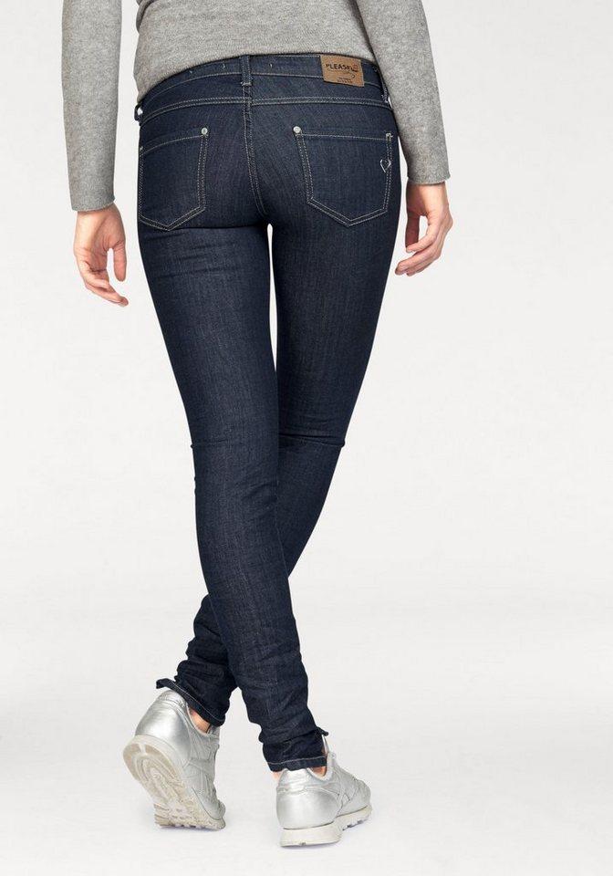 Please Jeans Skinny-fit-Jeans »P90« mit Herz-Logo aus Metal in dark-blue