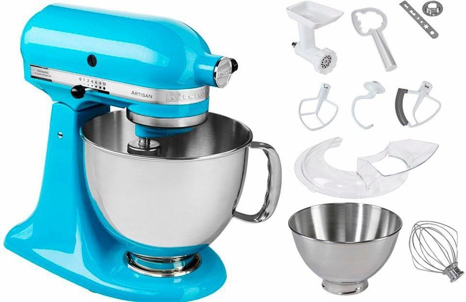 KitchenAid® Küchenmaschine 5KSM175PSECL Artisan, inkl. Sonderzubehör im Wert von ca. 214,-€ in christallblau
