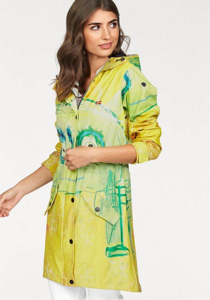 Danwear Funktionsmantel farbenfroh mit tollem Druck in gelb-bedruckt