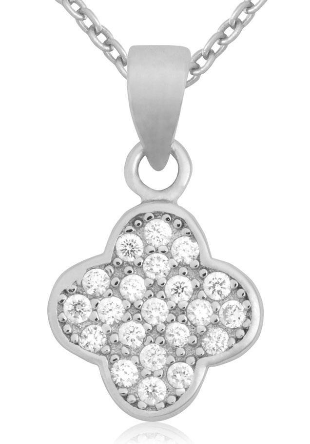 Firetti Silberkette »Blüte« mit Zirkonia in Silber 925