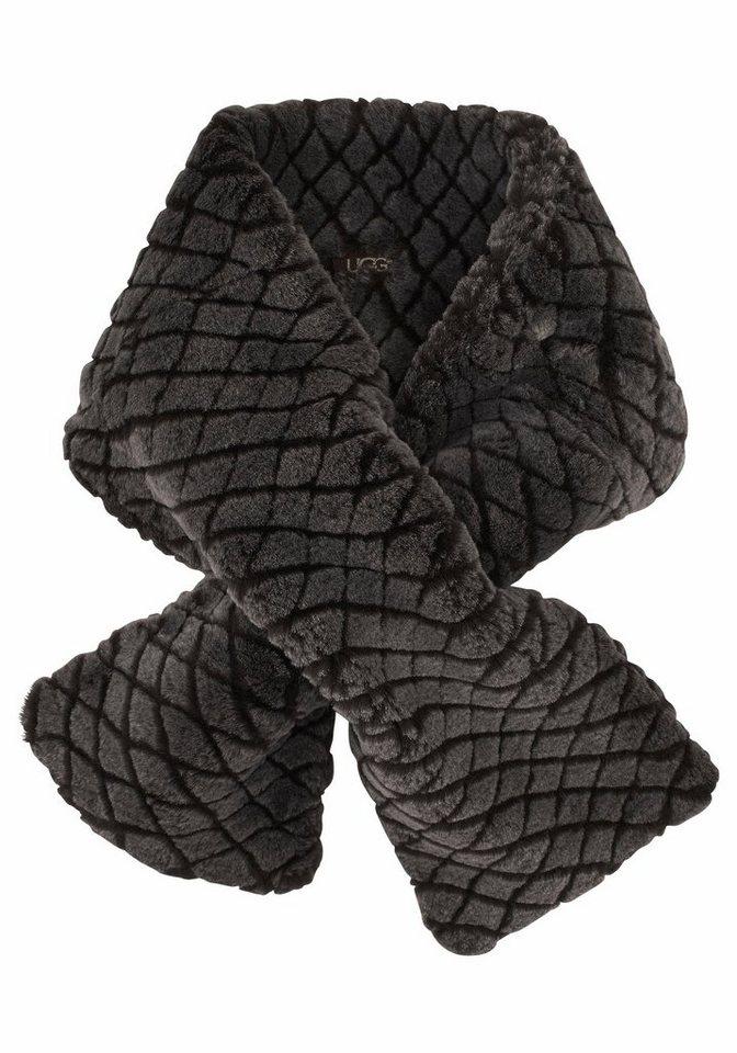 UGG Modeschal »Quilted Croft« aus Lammfell in braun