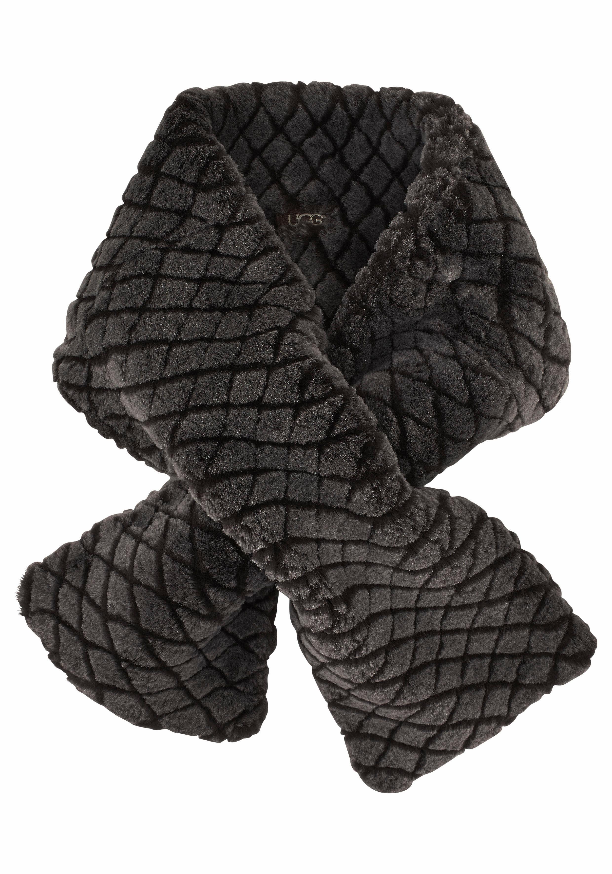 UGG Modeschal »Quilted Croft«, aus Lammfell