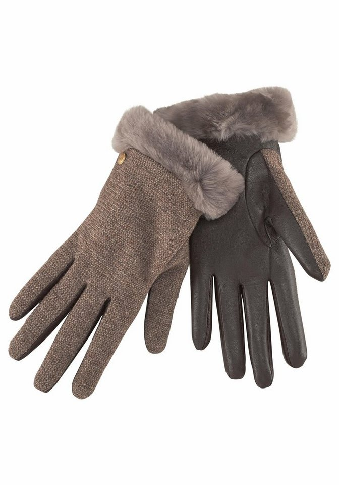 UGG Lederhandschuhe Shorty Gloves in braun