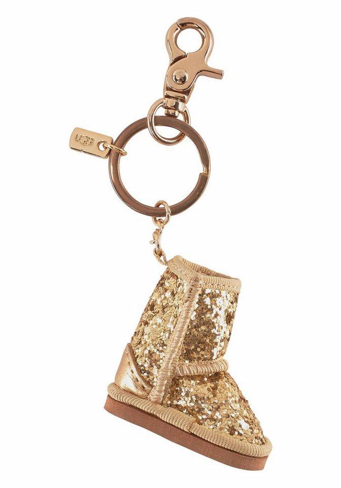 UGG Schlüsselanhänger im UGG-Design in goldfarben-Glitzermuster