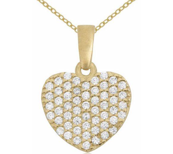 Firetti Herzkette »Herz« mit Zirkonia