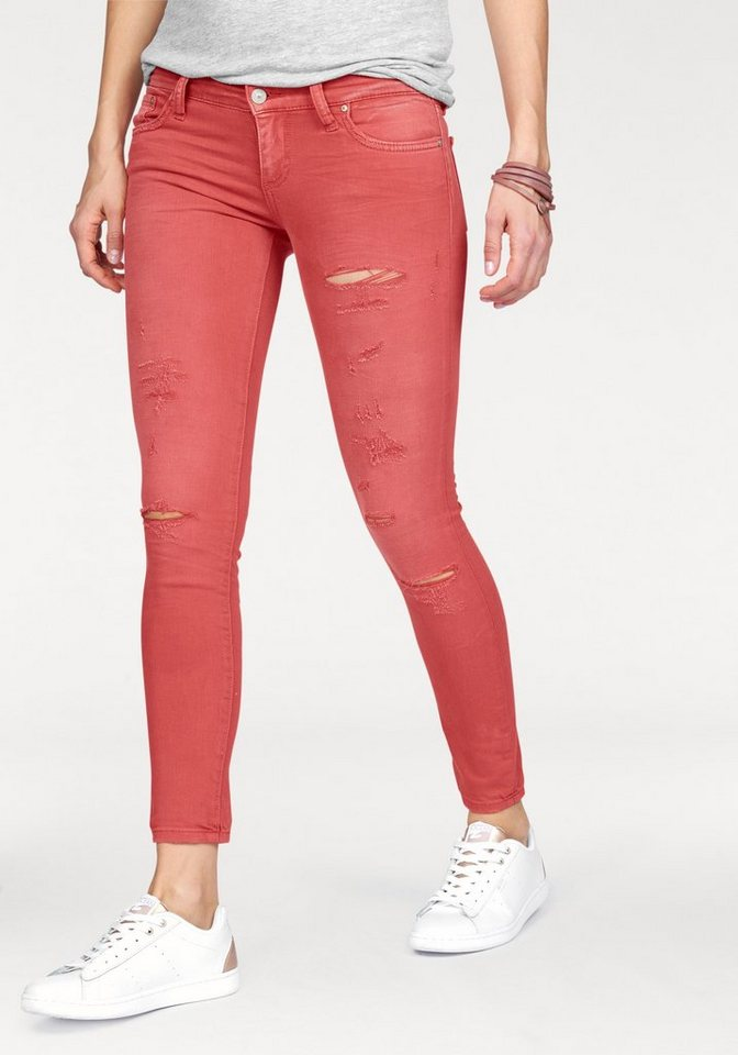 LTB Slim-fit-Jeans »Mina« mit Destroyed-Effekten in crimson-wash