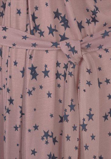 LASCANA Edler Kimono mit Spitzenbesatz