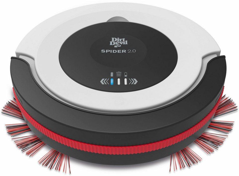 Dirt Devil Saugroboter Spider 2.0 - M612 in weiß/schwarz/rot
