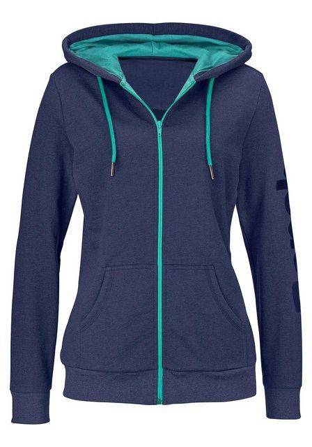 Bench. Kapuzensweatjacke mit kontrastfarbenen Details | Bekleidung > Sweatshirts & -jacken > Hoodies | Bench.