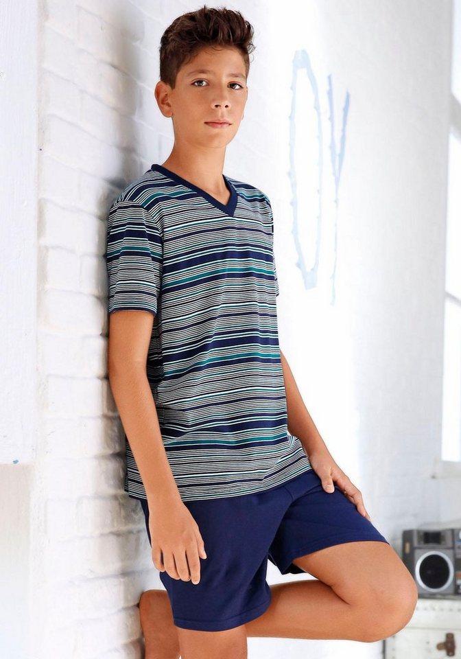 Le Jogger Shorty in blau -gestreift