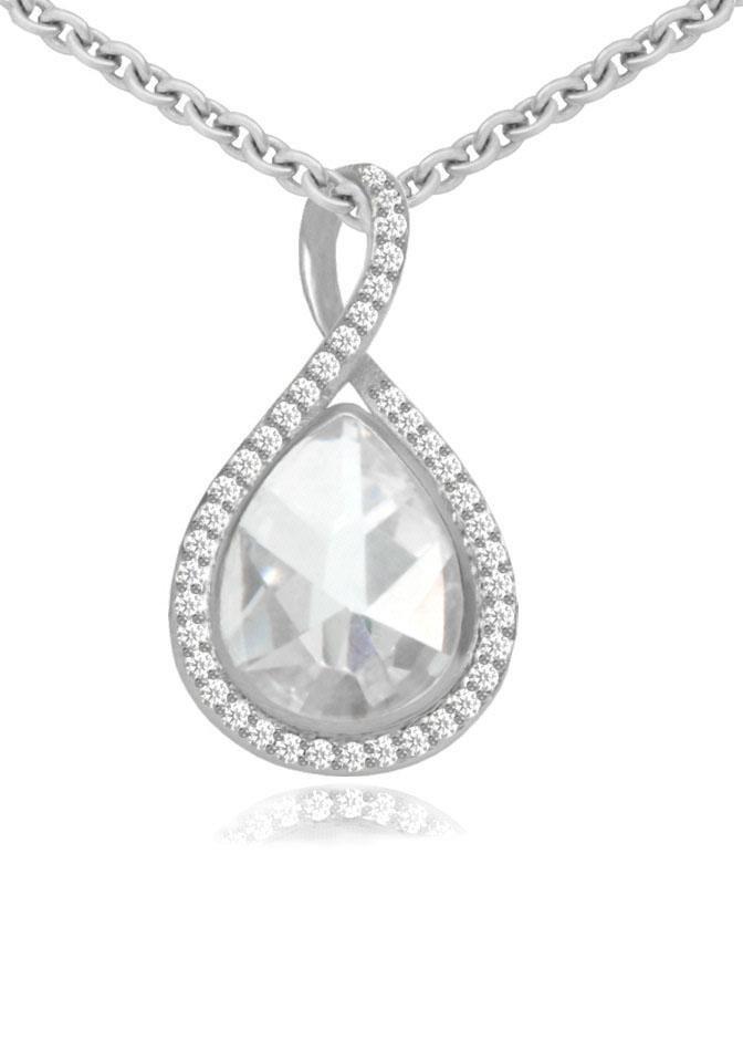 Firetti Silberkette »Tropfen« mit Zirkonia in Silber 925