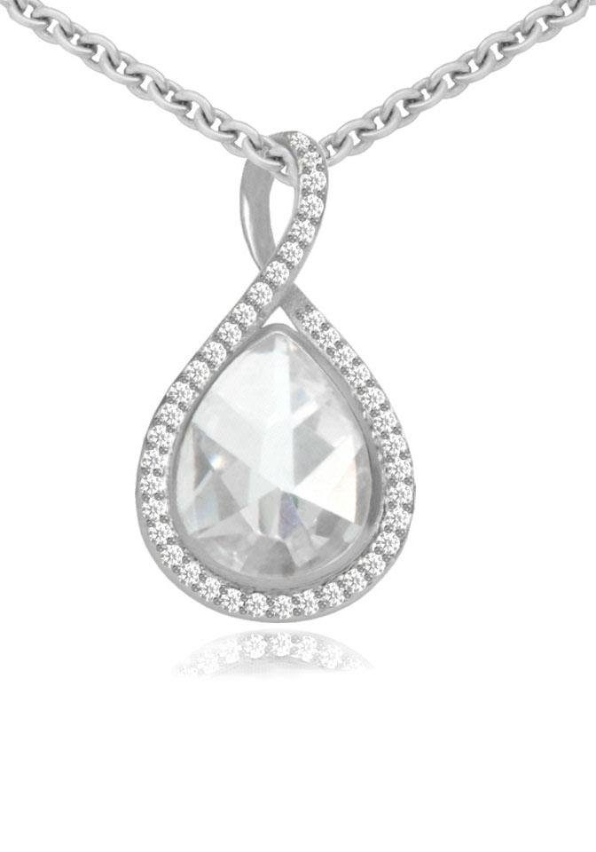 Firetti Silberkette »Tropfen«, mit Zirkonia