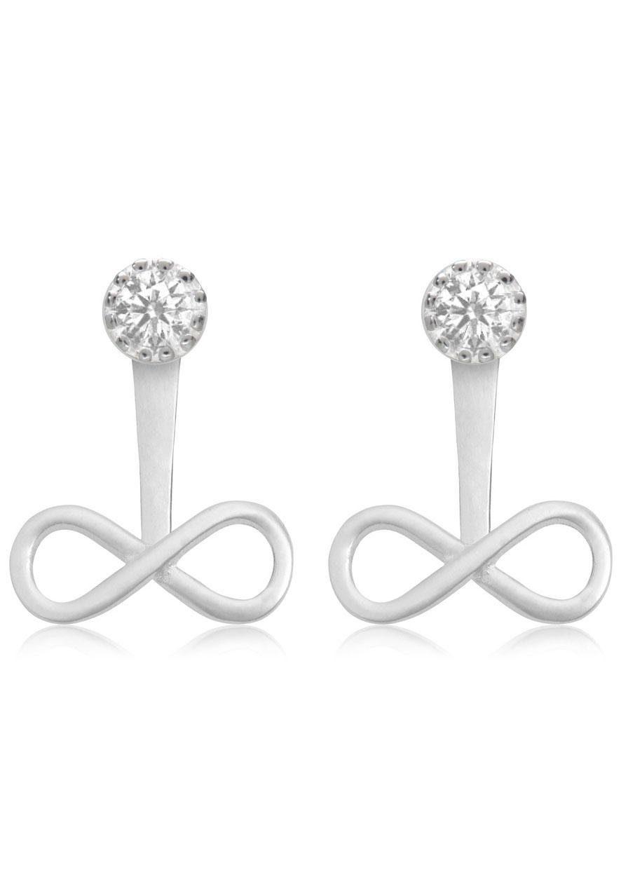 Firetti Paar Ohrstecker »Infinity«, mit abnehmbaren Einhängern und Zirkonia