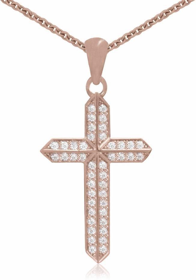 Firetti Kreuzkette »Kreuz«, mit Zirkonia