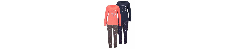 Vivance Dreams Pyjama (2 Stück) mit Herzprint Kaufen Neueste 1UiS7Sw2Jq