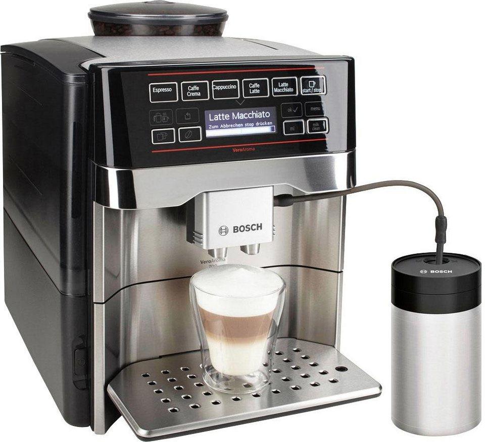 Bosch Kaffeevollautomat VeroAroma 700 TES60759DE, inkl. Milchbehälter im Wert von 49,99€ in edelstahl