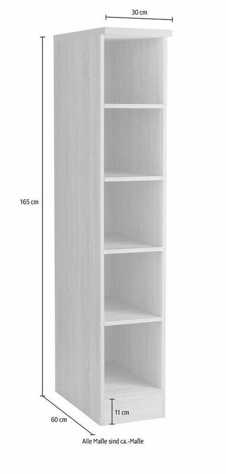 Held Möbel Regal »Graz«, Breite 30 cm in weiß