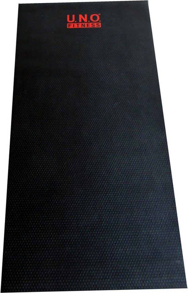 U.N.O. Fitness Bodenschutzmatte für Fitnessgeräte in schwarz