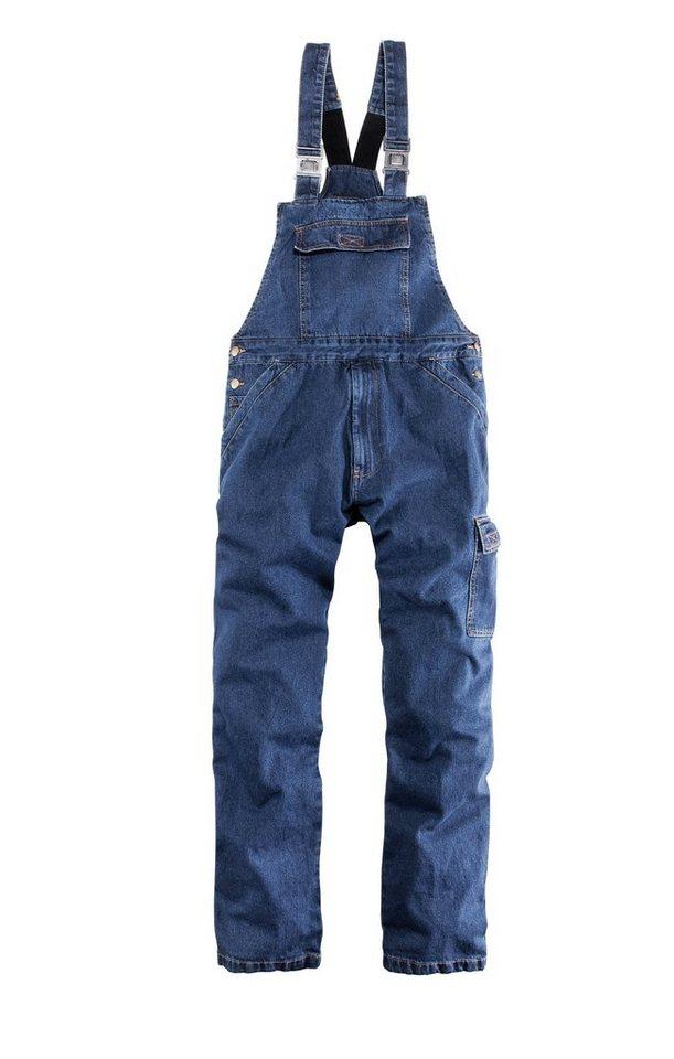 B.R.D.S. Workwear Jeanslatzhose in jeansblau