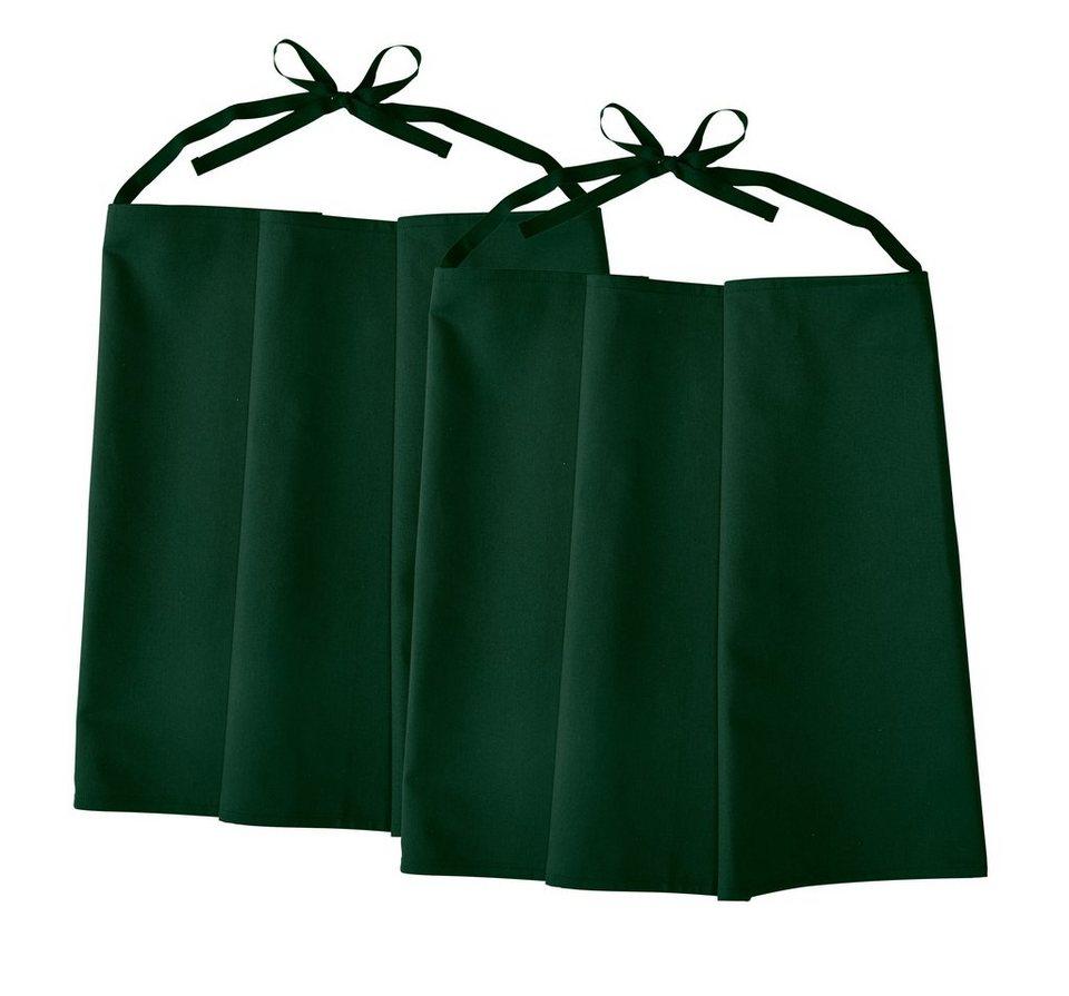 Kochschürze »2er Pack« in dunkelgrün